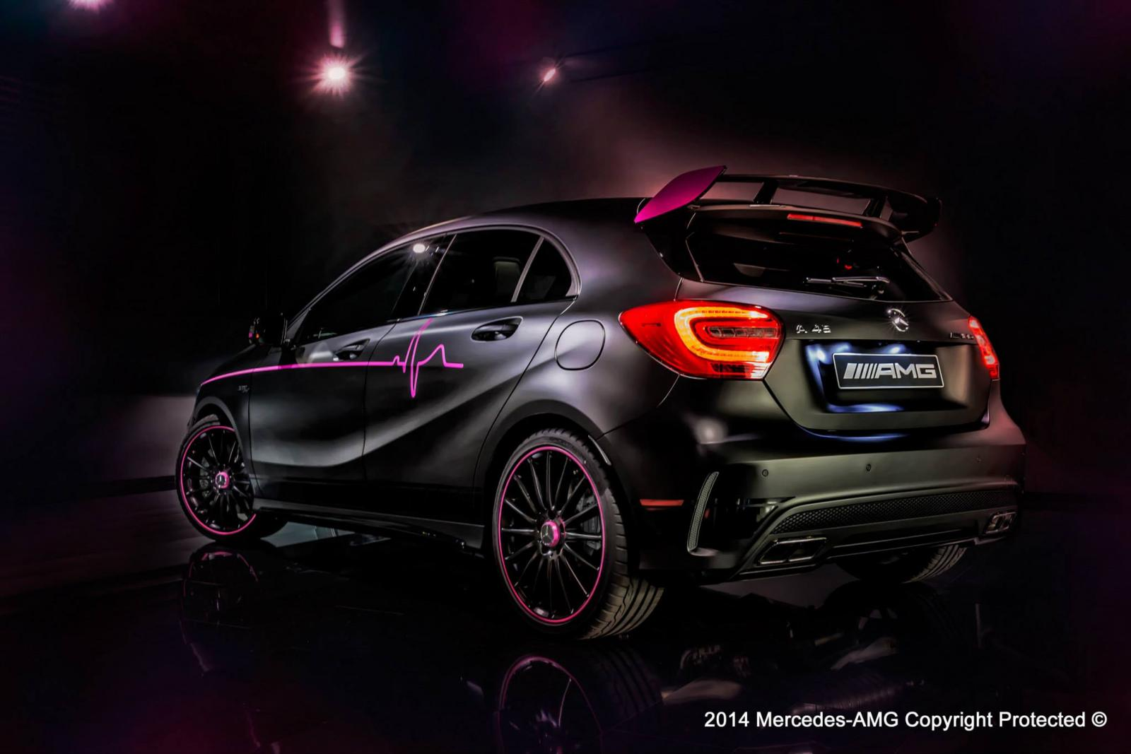 mercedes benz a 45 amg erika revista del motor. Black Bedroom Furniture Sets. Home Design Ideas