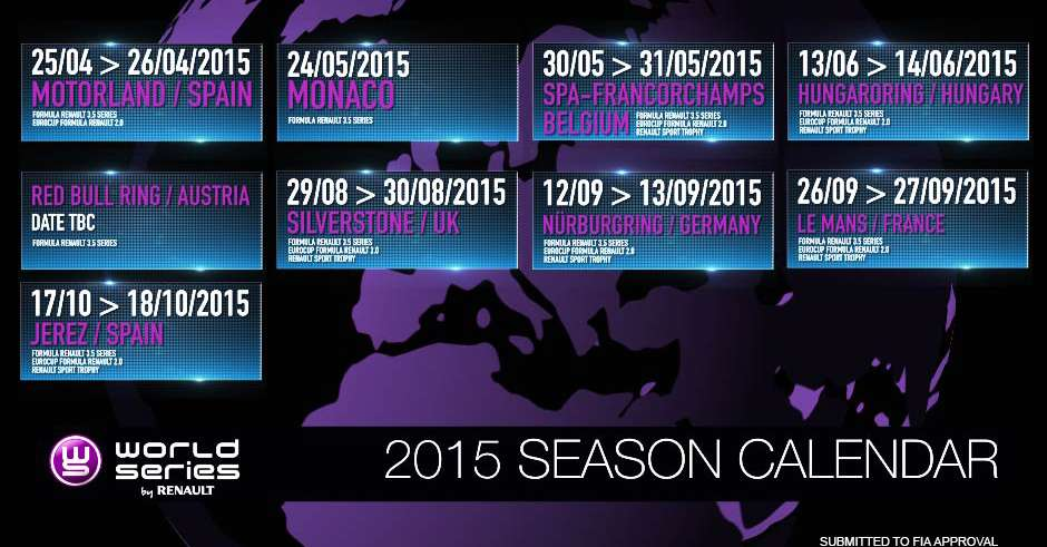 Calendario 2015 World Series by Renault