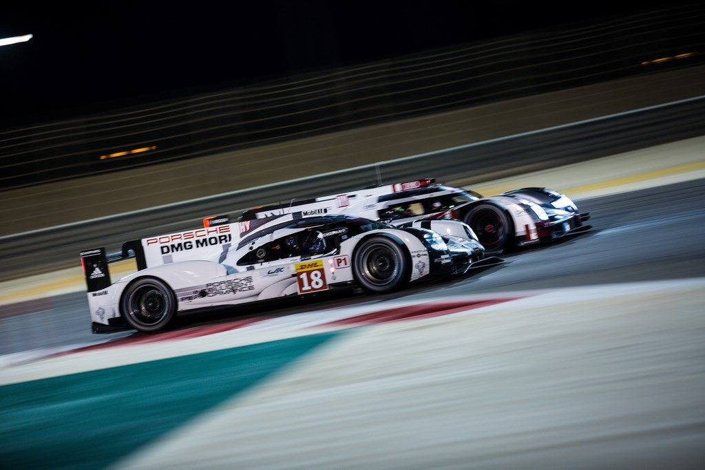 Car #18 / PORSCHE TEAM (DEU) / Porsche 919 Hybrid Hybrid / Romain Dumas (FRA) / Neel Jani (CHE) / Marc Lieb (DEU)- 6 Hours of Bahrain at Bahrain International Circuit - Sakhir - Bahrain