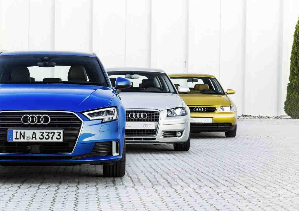 Audi A3, dos décadas de éxito en tres generaciones