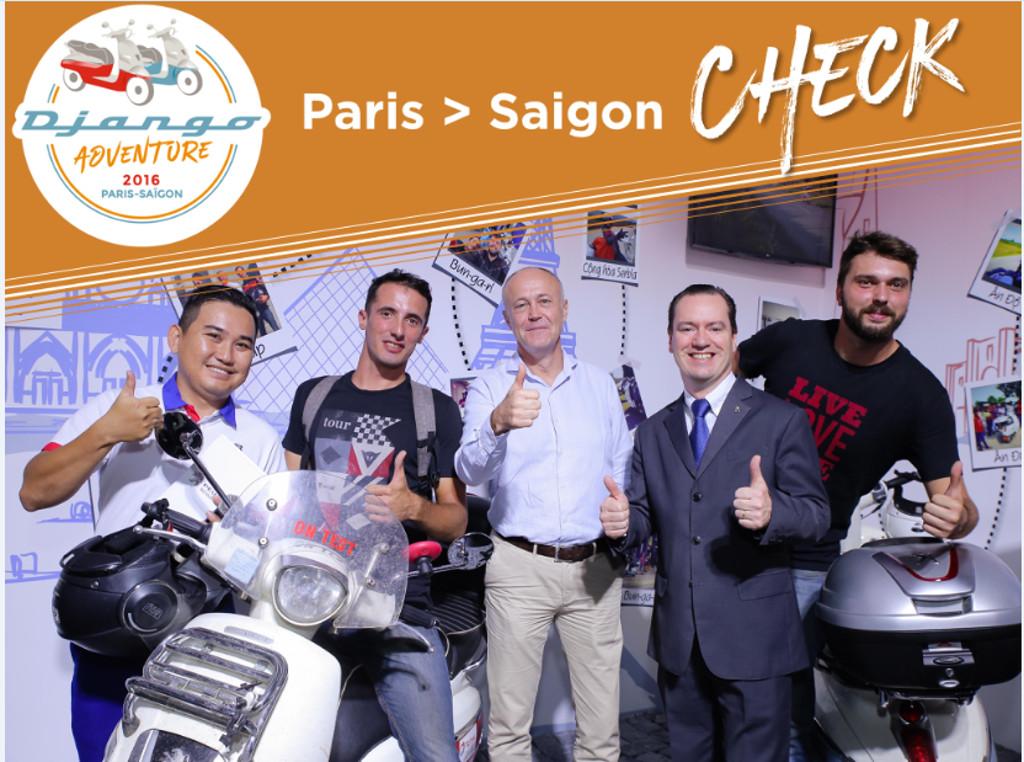 Django Adventure 2016, una scooter Peugeot completa 12.000 km