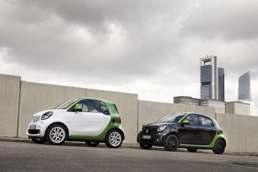 CONTACTO: SMART FORTWO Y FORFOUR ELECTRIC DRIVE. Perfectos para la ciudad